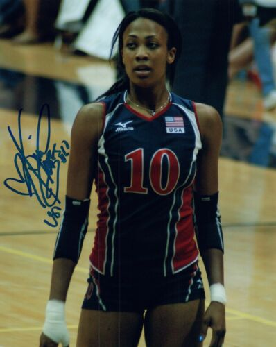 Kim Glass Signed Autographed 8x10 Photo TEAM USA VOLLEYBALL & Model COA