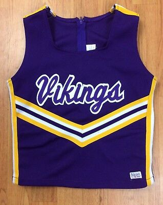Cheerleading Uniform Top Minnesota Vikings Youth & Adult Sizes Halloween - Minnesota Vikings Cheerleaders Halloween
