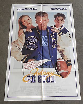 JOHNNY BE GOOD Anthony Michael Hall Robert Downey Jr Original 1988 Movie Poster
