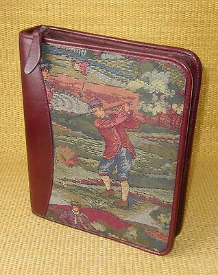 Classic 1.5 Rings Burgundy Leather Golf Franklin Coveyquest Plannerbinder