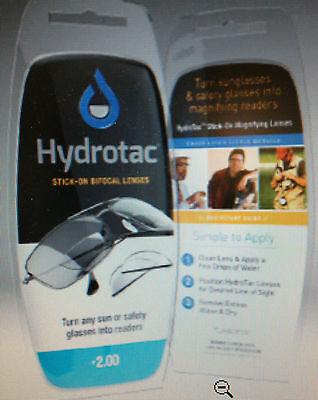 Sticks Sunglasses (OPTX 2020 Hydrotac Stick on reading lens Great 4 SUNGLASSES 1.25 to)