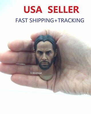 Custom Keanu Reeves John Wick 1 6 Head Sculpt For 12 Male Figure Body