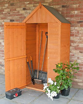 3x2FT OVERLAP WOODEN TOOL STORE SMALL GARDEN STORAGE SHED