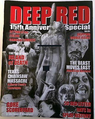 Deep Red Magazine RARE 15th Anniversary Issue from 2002! Chas Balun