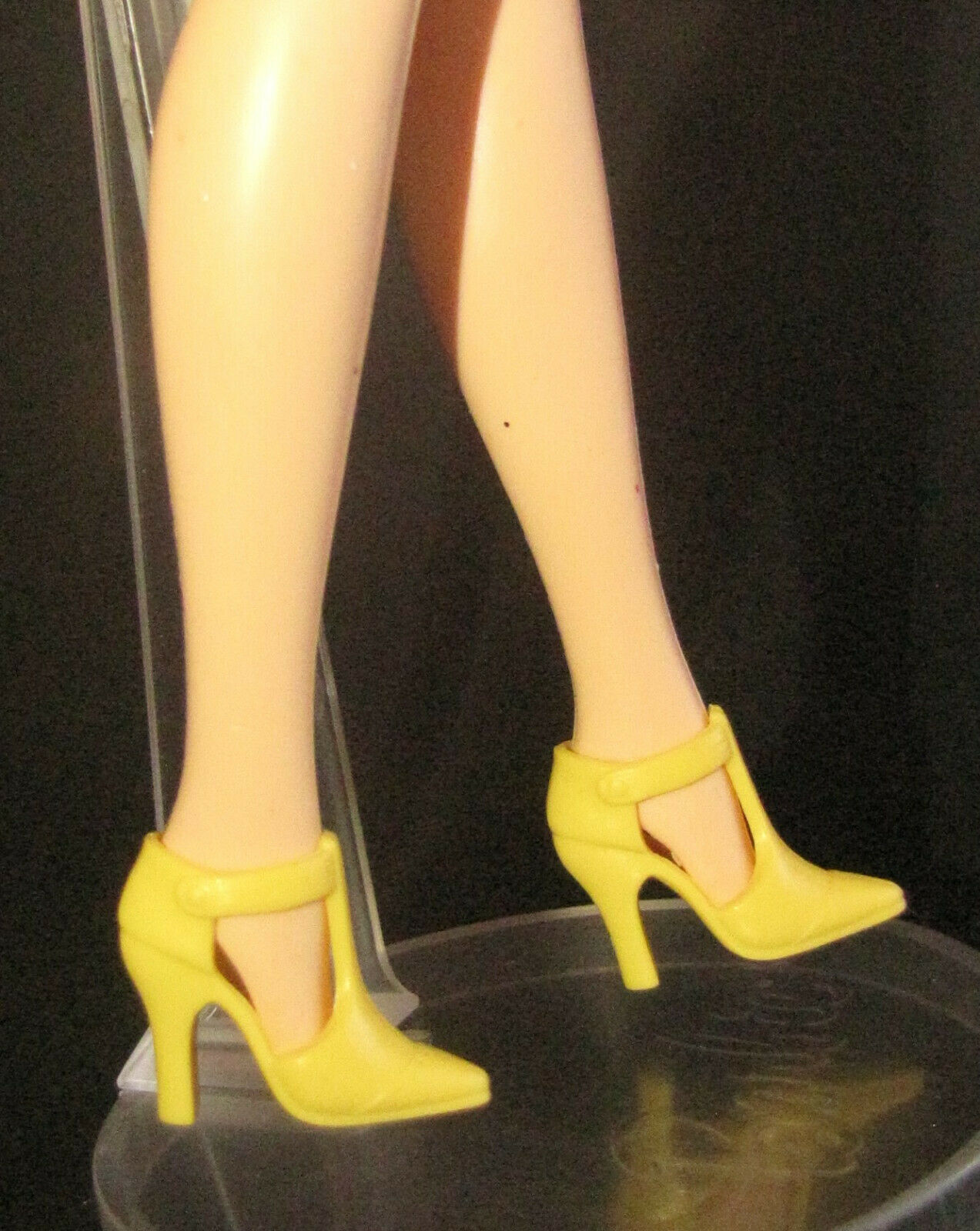 SHOES MATTEL BARBIE DOLL YELLOW MARY JANE T-STRAP HIGH HEELS SANDALS ACCESSORY - $3.95