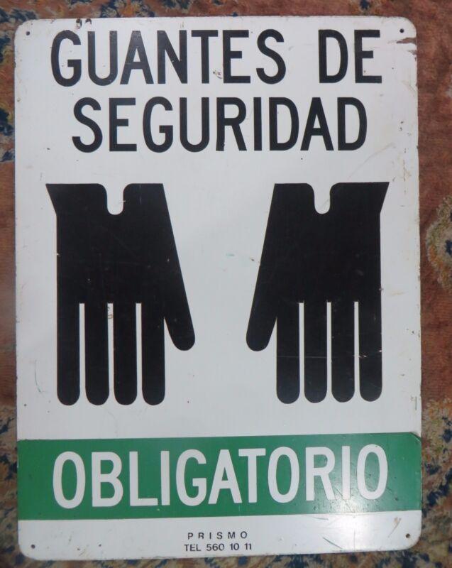 """Safety Marine IMO symbolic Enamel Back Sign Guantes de seguridad """"Safety Gloves"""""""