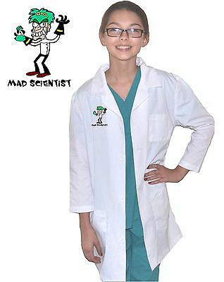 Kids Mad Scientist Lab Coat Costume