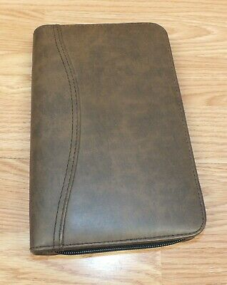 Day-timer - Brown Faux Leather Zip Up Binder Planner Read