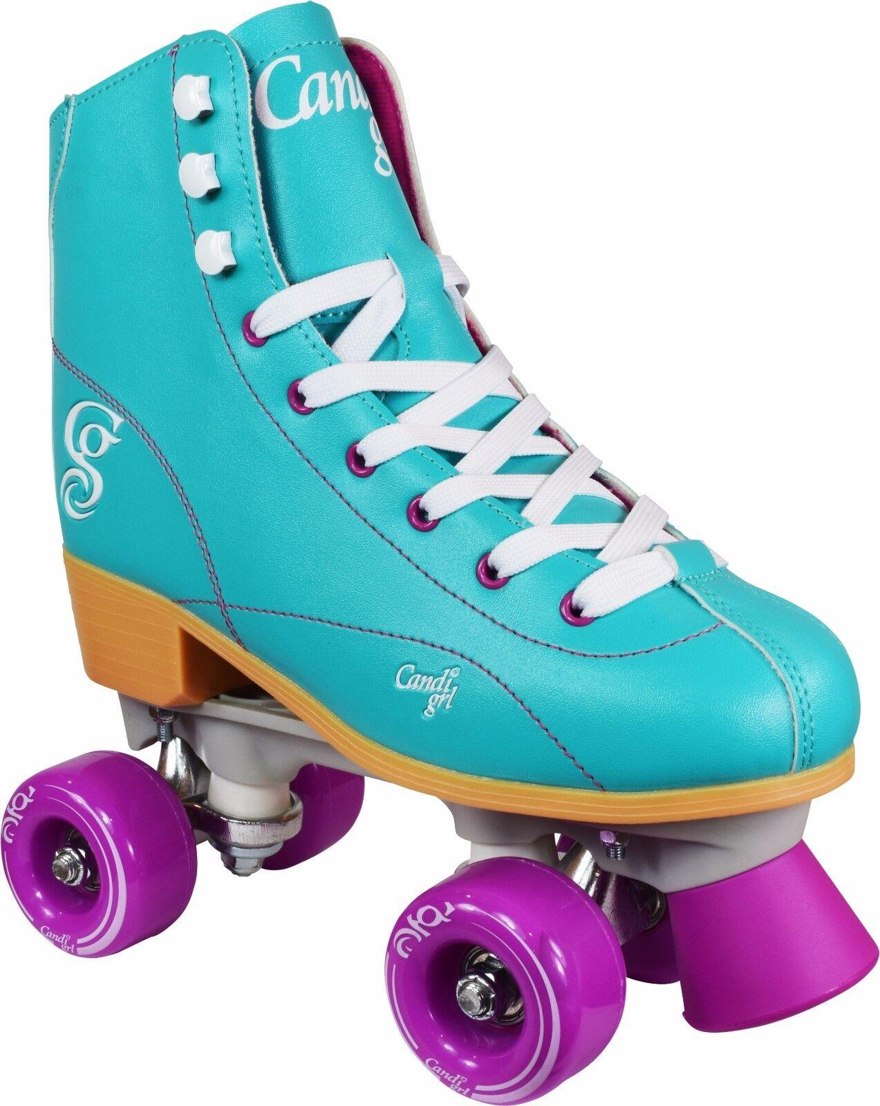 New Candi Girl Sabina Mint Roller Skates Girls Ladies Size 3 10
