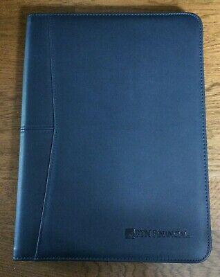 Leeds Ftn Financial Blue Portfolio Business Notepad Padfolio Organizer New