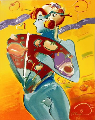 "Peter Max ""nude Fan Dancer"" 1988 