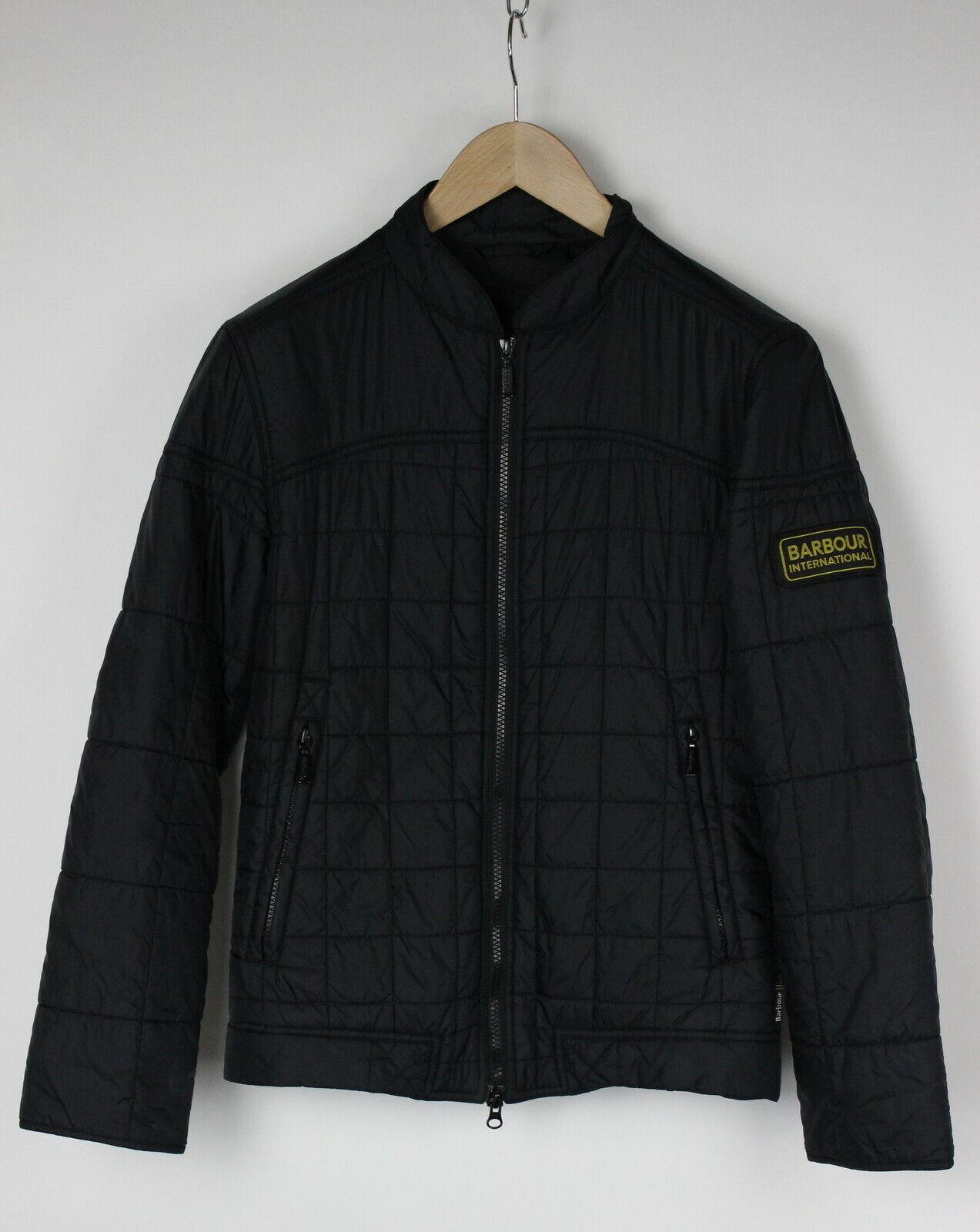Barbour international b. intil burnout quilt homme s rempli noir veste 28888-js