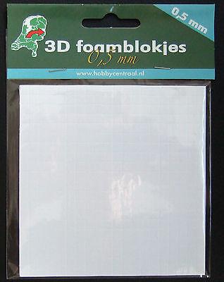 3D-Klebepads 400 Stück 0,5 mm stark weiß (Foam Pads)