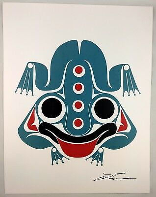 Messenger Frog Lon French Signed Print Haida Northwest Coast Native Art for sale  Surrey