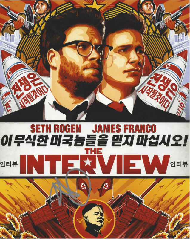RANDALL PARK SIGNED AUTHENTIC 'THE INTERVIEW' KIM JUNG UN 8X10 PHOTO w/COA ACTOR