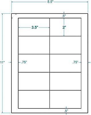 3.5 X 2 White Inkjet Laser Labels 1000311455