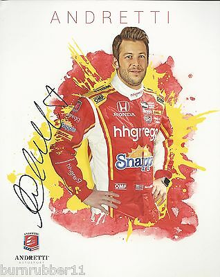 Signed 2016 Marco Andretti  Hh Gregg   27 Verizon Indy Car Handout Postcard