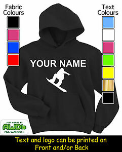 PERSONALISED-SNOWBOARD-SNOWBOARDING-HOODIE-HOODIES-GREAT-KIDS-GIFT-NAMED
