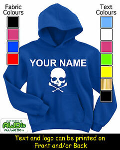 SKULL-CROSSBONES-KIDS-PERSONALISED-HOODIE-HOODIES-GIFT-FOR-CHILD-NAMED