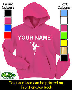 PERSONALISED-GIRLS-BALLET-DANCER-HOODIE-HOODIES-GREAT-GIFT-NAMED-TOO