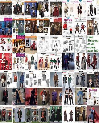 Sewing Pattern Men Costume Biblical Historic Star Wars Santa Outlander LOTR GOT