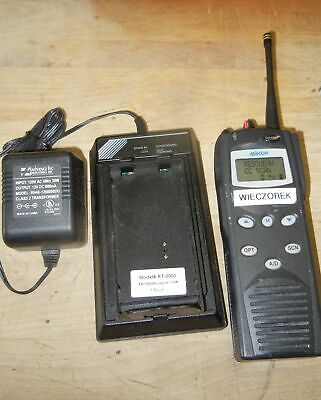 Macom Harris P7100 Ip Portable 2-way Radio Model Maht-s83nx Charger 800 Mhz