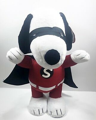 Superhero Halloween Decorations (Superhero Snoopy Halloween Greeter Gemmy Porch Sitter Decoration 2ft)