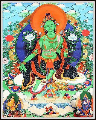 """Mysterious!   """"Thankga Fine Art Print from Tibet""""   (35"""" High x 27.25"""" Wide)"""