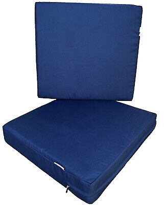 Outdoor 2 Pack Deep Seat Chair Patio Cushions Memory Foam 20
