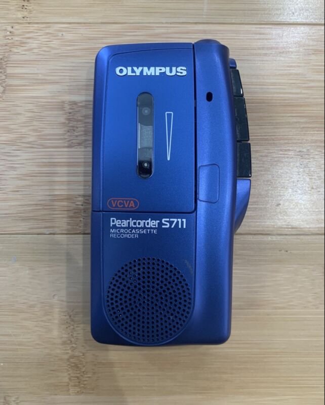 OLYMPUS Pearlcorder Dictaphone MicroCassette Voice Recorder S711 - Ships Fast
