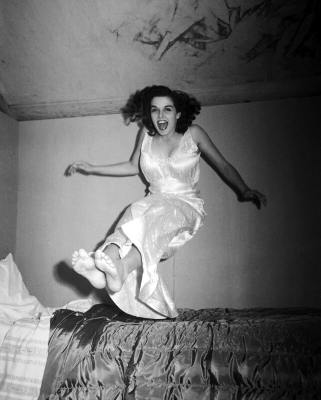 Jane Russell Jumping With The Mouth Open 8x10 Photo Print