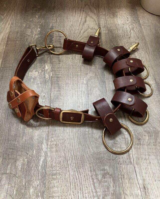Leather Truckman's Belt
