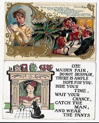 Postcards: Women uncertain romance:Christmas for Drummers / Maiden Fair