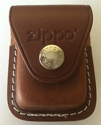 Zippo Brown Leather Lighter Pouch With Clip  Item Lpcb  New In Box
