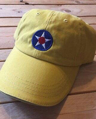 Vintage Army Air Corp  Star  Cap Yellow FREE SHIPPING (Air Corp Star)