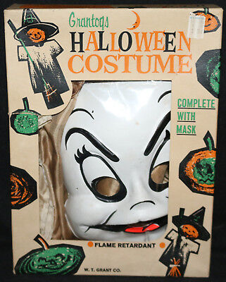 Casper Halloween Costume with Mask in Box by Grantogs - 1966](Casper Halloween Costume)