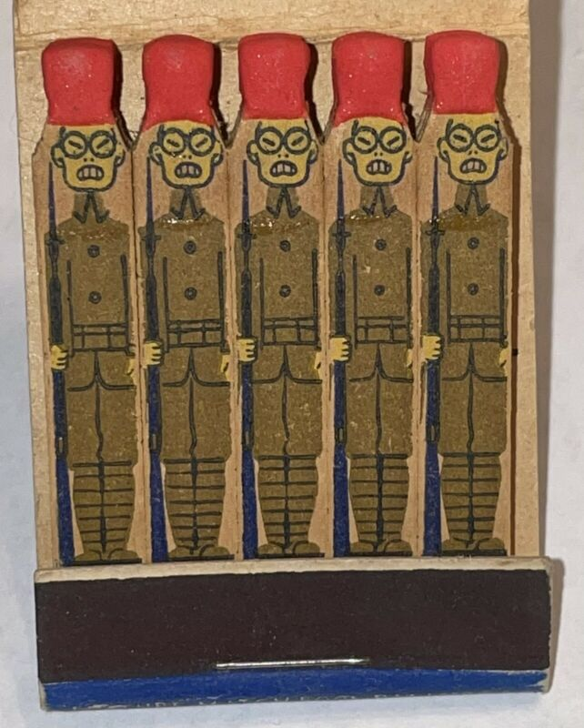 WWII Strike 'Em Dead Lion Feature Matchbook TOJO Matches Remember Pearl Harbor