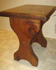 """Pair of SOLID 2"""" Pine End tables NOW $20 London Ontario image 2"""
