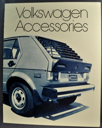 1976 Volkswagen Accessories Brochure Rabbit Dasher Scirocco Beetle Original VW
