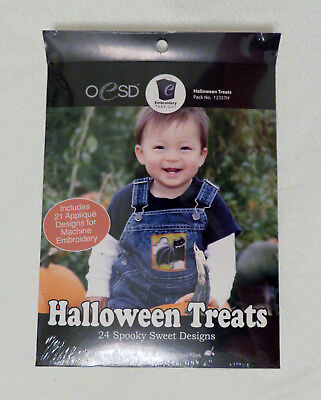 OESD Embroidery Take-Out Halloween Treats 24 Appliqué Designs Autumn Fall