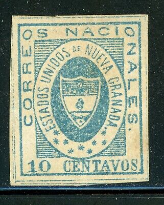 Colombia Classic Used Selections: Scott #16 10c Blue (1861) #1 CV$175+