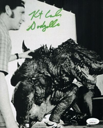 KURT CARLEY Signed GODZILLA Suit Performer 8x10 Photo Autograph JSA COA WPP Cert