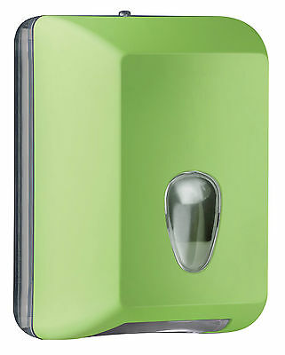 DISPENSER DISTRIBUTORE CARTA IGIENICA FOGLI COLORATO VERDE SOFT TOUCH MAR PLAST