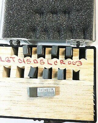 Kaiser Tool Thinbit Carbide Grooving Insert. Qty 8 Lgt01505 Lcr 003