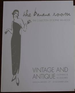 Vintage Clothing auction catalogue - The Banana Room