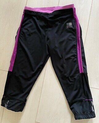 KARRIMOR Pink/Black Sports Capri/Crop Leggings Size 8 for sale  Shipping to Nigeria