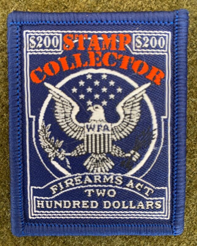 NFA Morale Tax Stamp Collector Patch