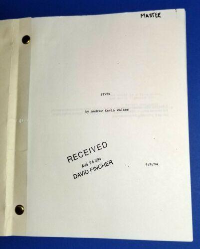 SEVEN original script BRAD PITT MORGAN FREEMAN 1995 DAVID FINCHER SPACEY