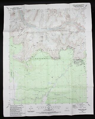 VTG 1988 Grand Canyon Arizona USGS Topographical Map TOPO AZ 7.5 Minute