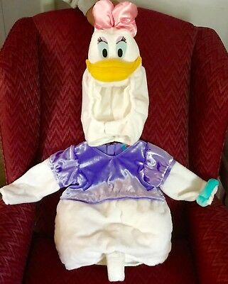 DISNEY STORE DAISY DUCK DONALD PLUSH COSTUME CHILD GIRL XS 4 4T HALLOWEEN - Child Daisy Duck Costume